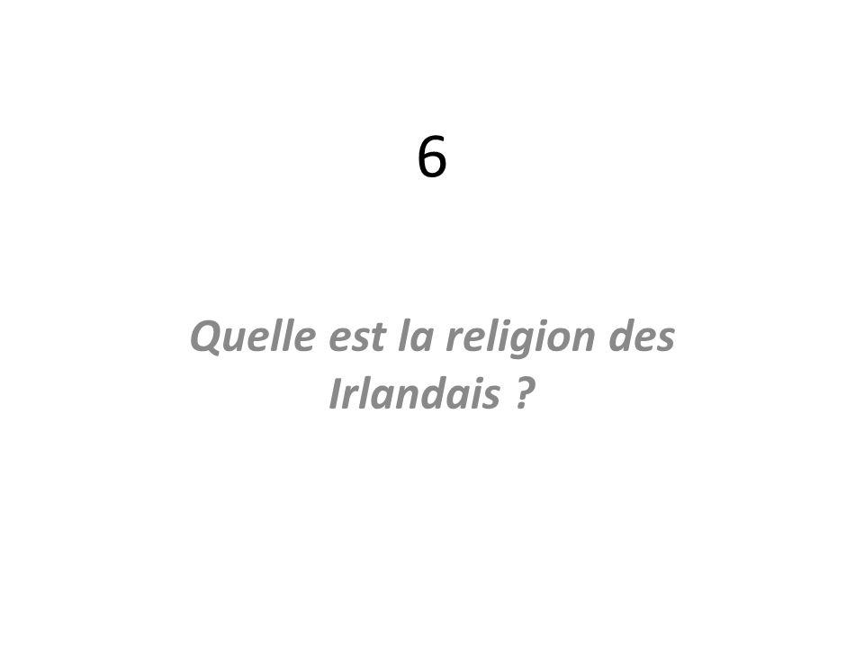 Quelle est la religion des Irlandais