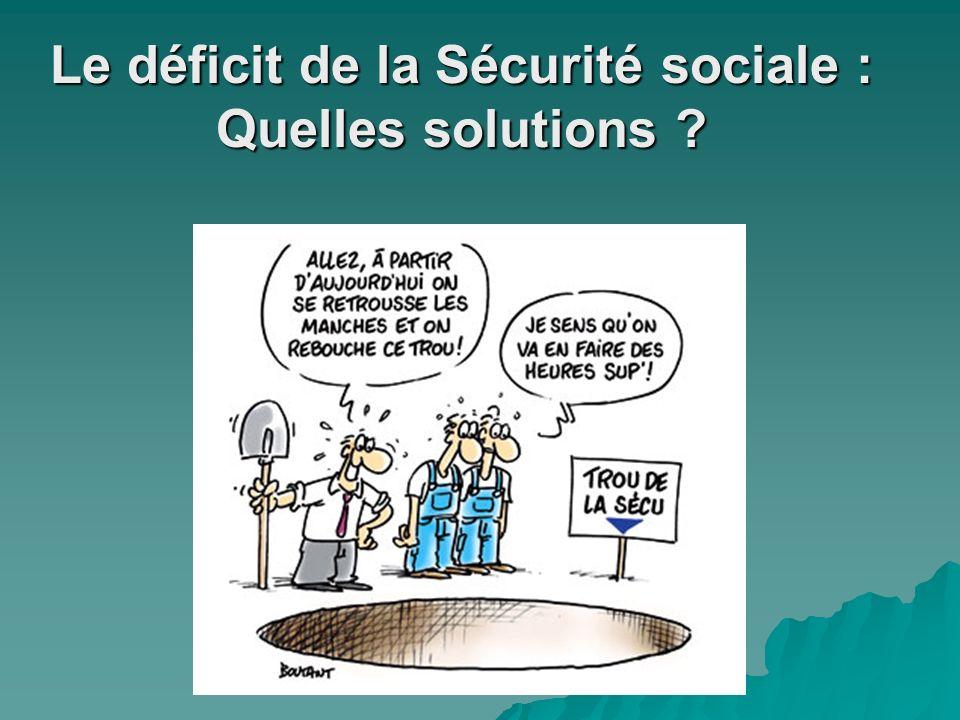 Le déficit de la Sécurité sociale : Quelles solutions