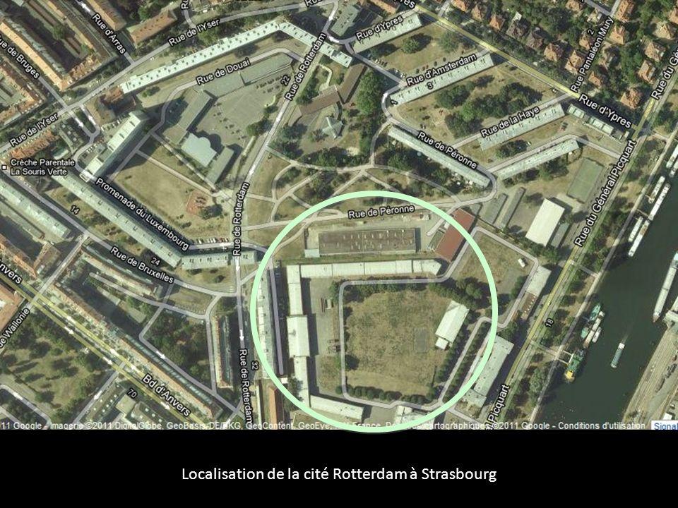 Localisation de la cité Rotterdam à Strasbourg