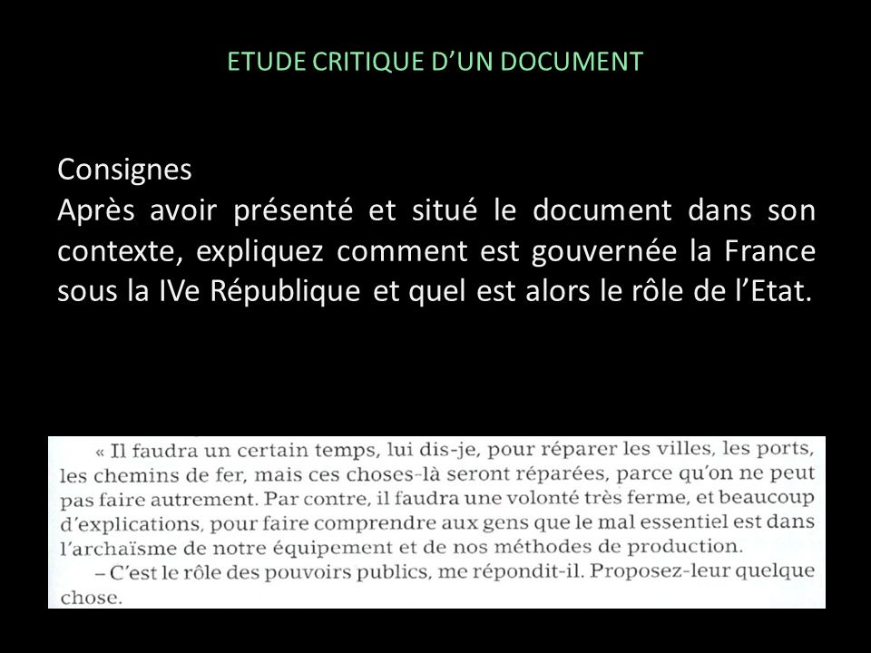 ETUDE CRITIQUE D'UN DOCUMENT