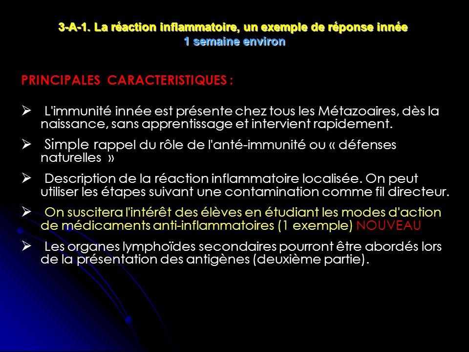 Simple rappel du rôle de l anté-immunité ou « défenses naturelles »