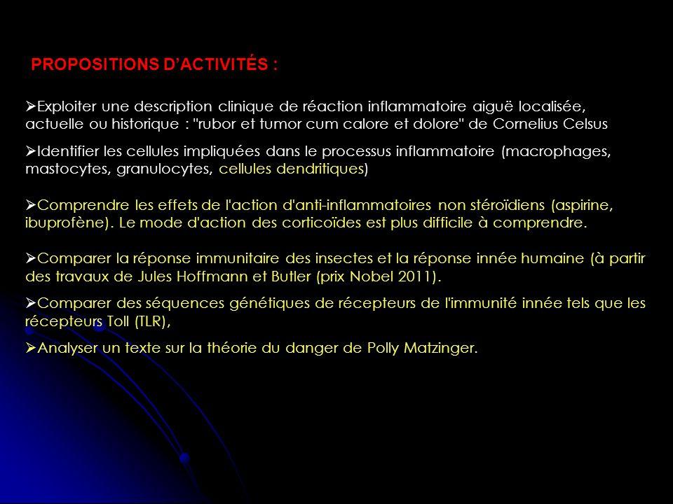 Propositions d'activités :