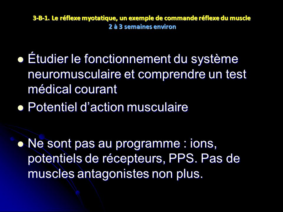 Potentiel d'action musculaire