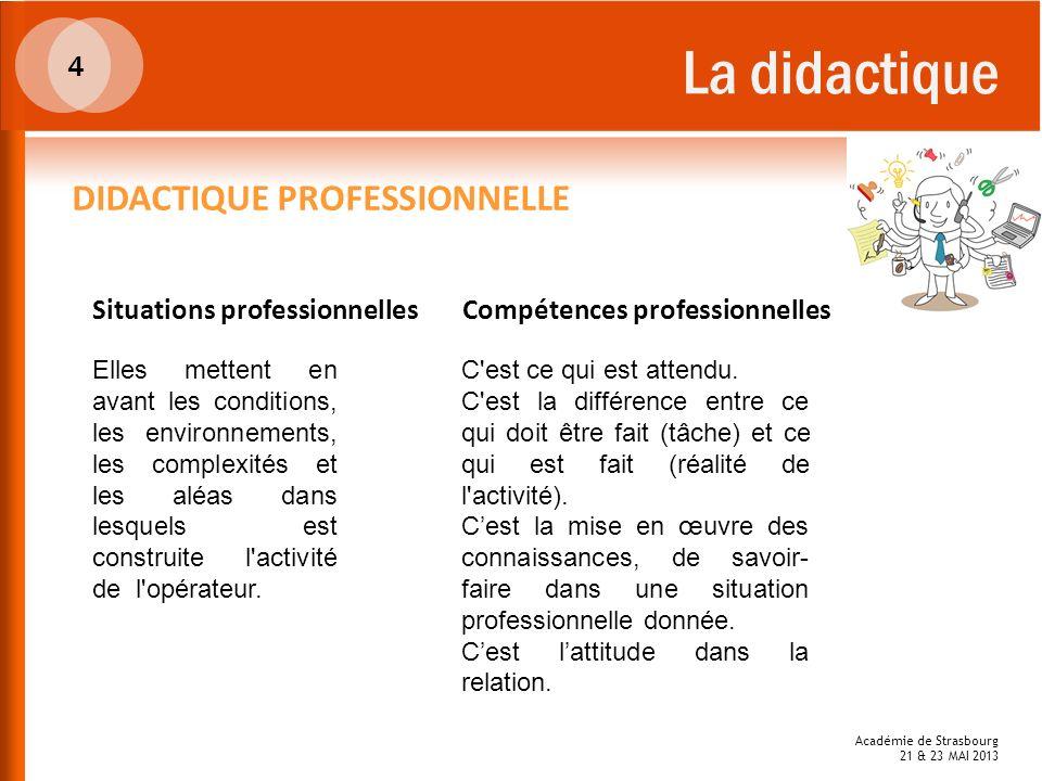 La didactique DIDACTIQUE PROFESSIONNELLE 4 Situations professionnelles
