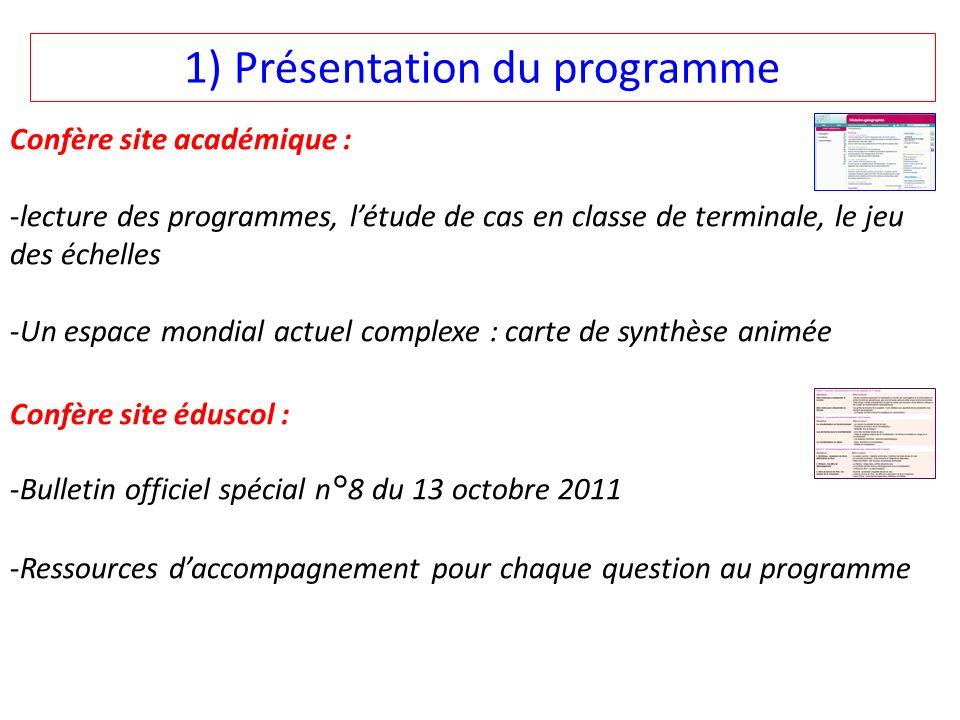 1) Présentation du programme
