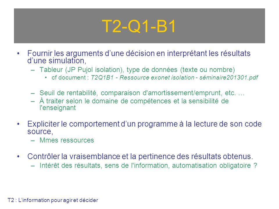 T2-Q1-B1 Fournir les arguments d'une décision en interprétant les résultats d'une simulation,