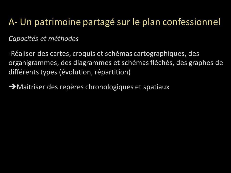 A- Un patrimoine partagé sur le plan confessionnel