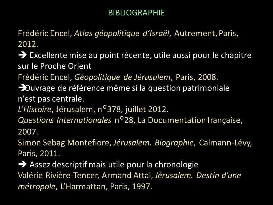 BIBLIOGRAPHIE Frédéric Encel, Atlas géopolitique d'Israël, Autrement, Paris, 2012.
