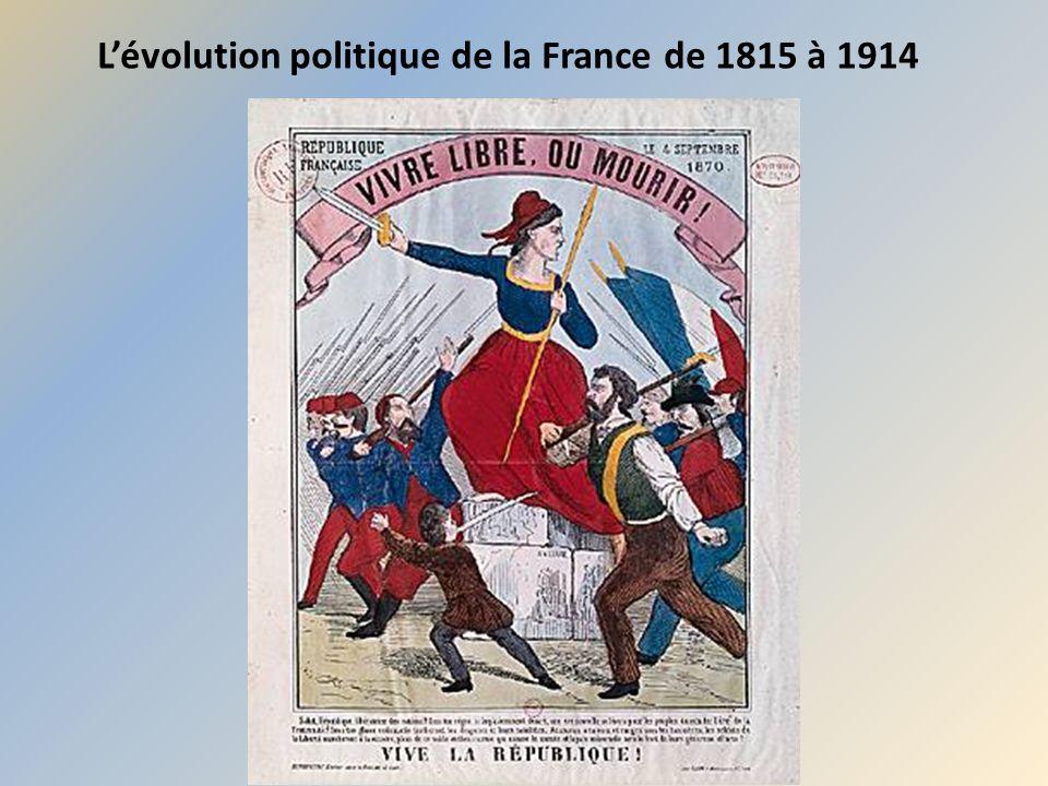 L'évolution politique de la France de 1815 à 1914