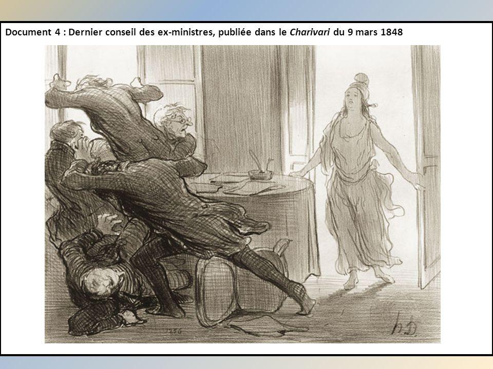 Document 4 : Dernier conseil des ex-ministres, publiée dans le Charivari du 9 mars 1848