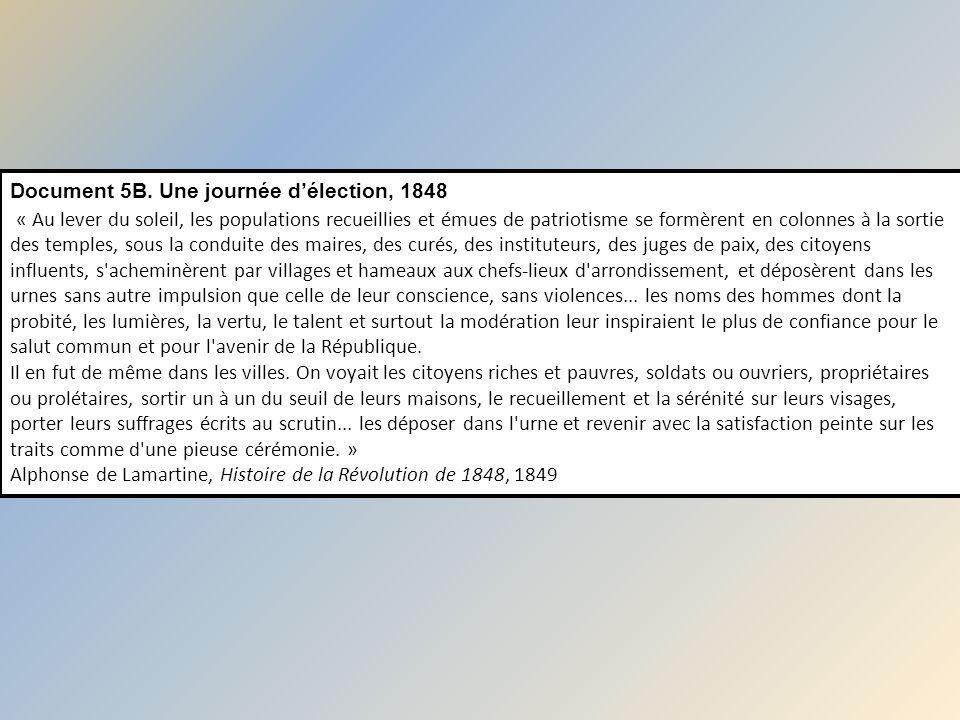 Document 5B. Une journée d'élection, 1848