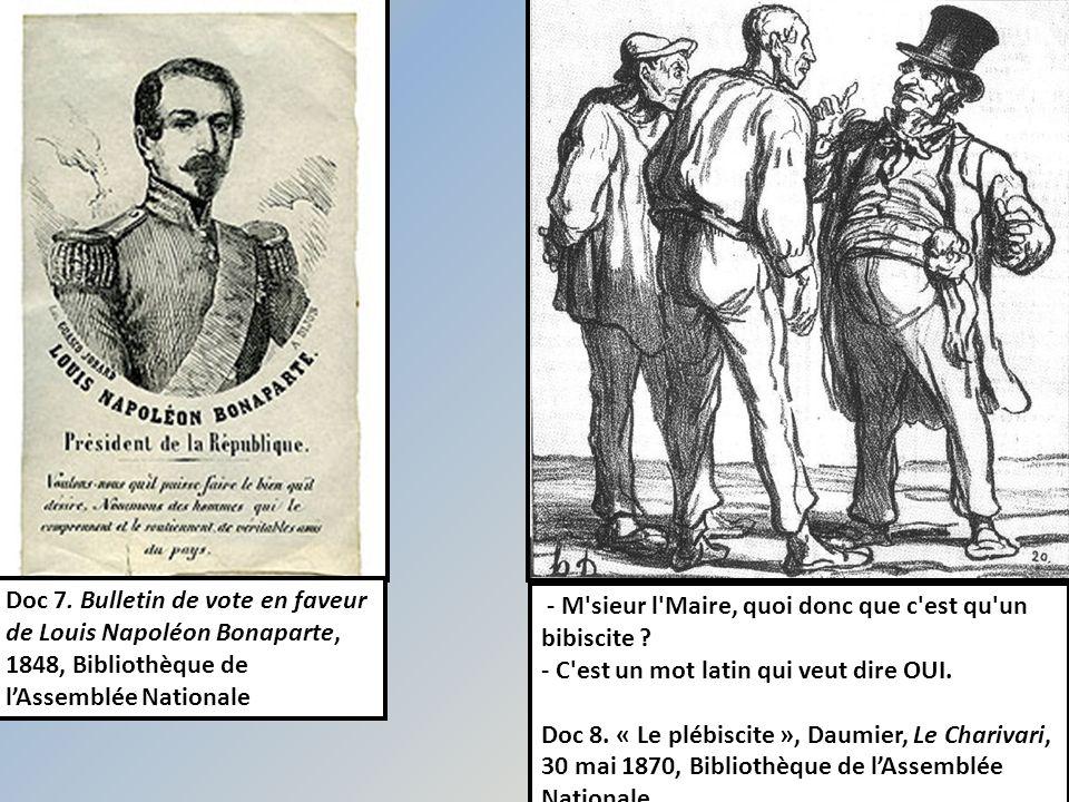 Doc 7. Bulletin de vote en faveur de Louis Napoléon Bonaparte, 1848, Bibliothèque de l'Assemblée Nationale