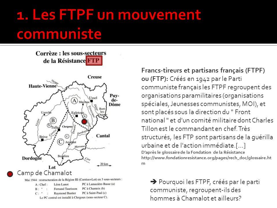 1. Les FTPF un mouvement communiste