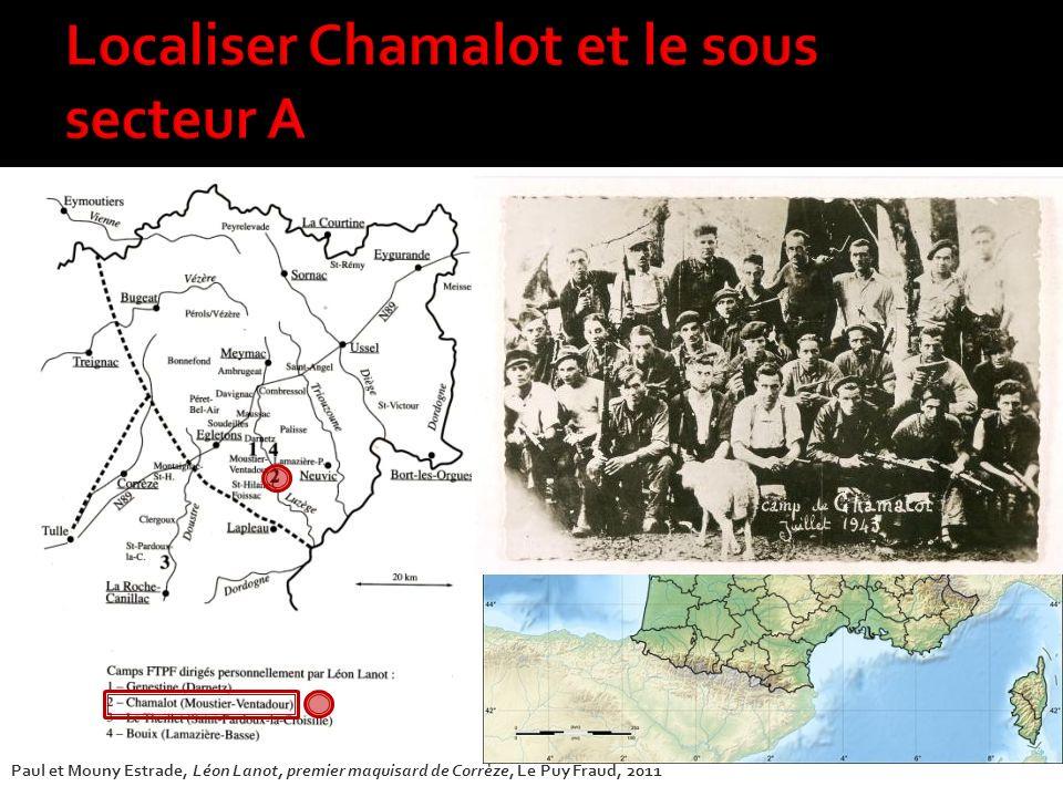 Localiser Chamalot et le sous secteur A