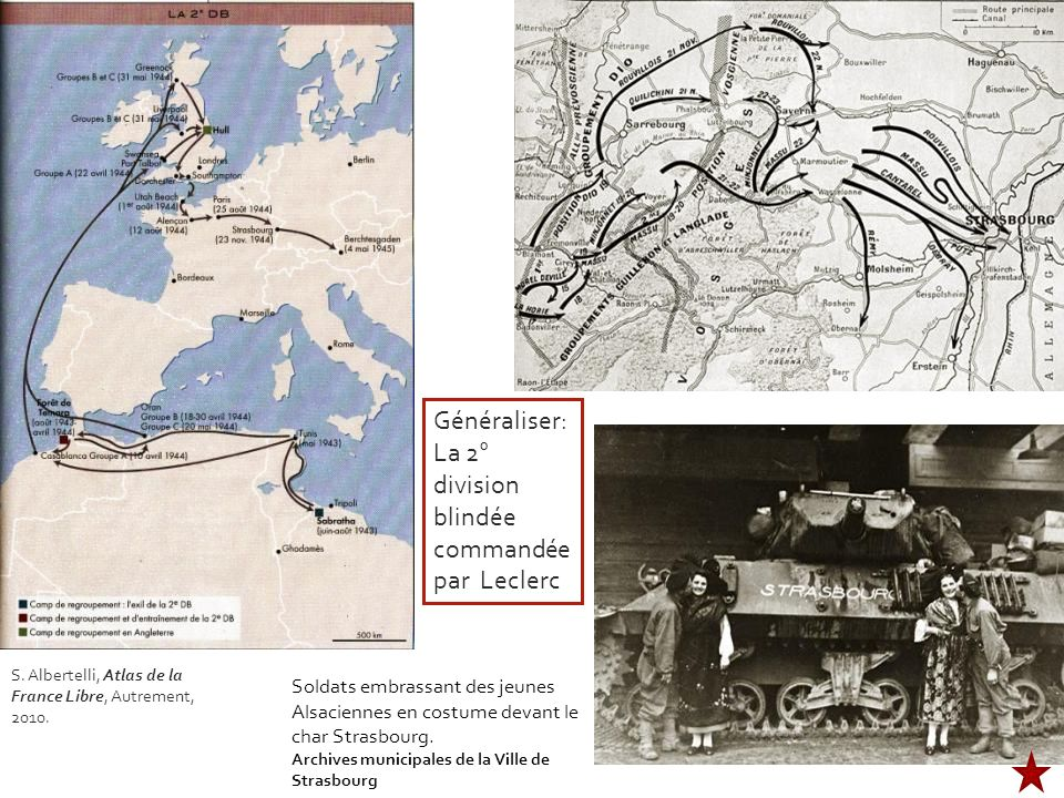 Généraliser: La 2° division blindée commandée par Leclerc