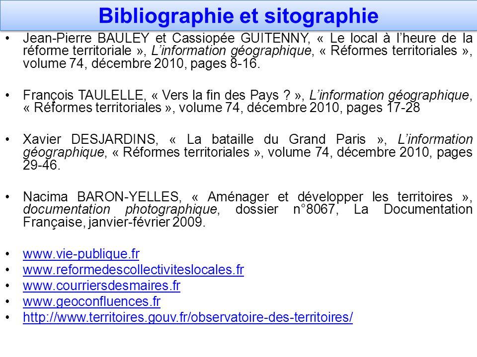 Bibliographie et sitographie