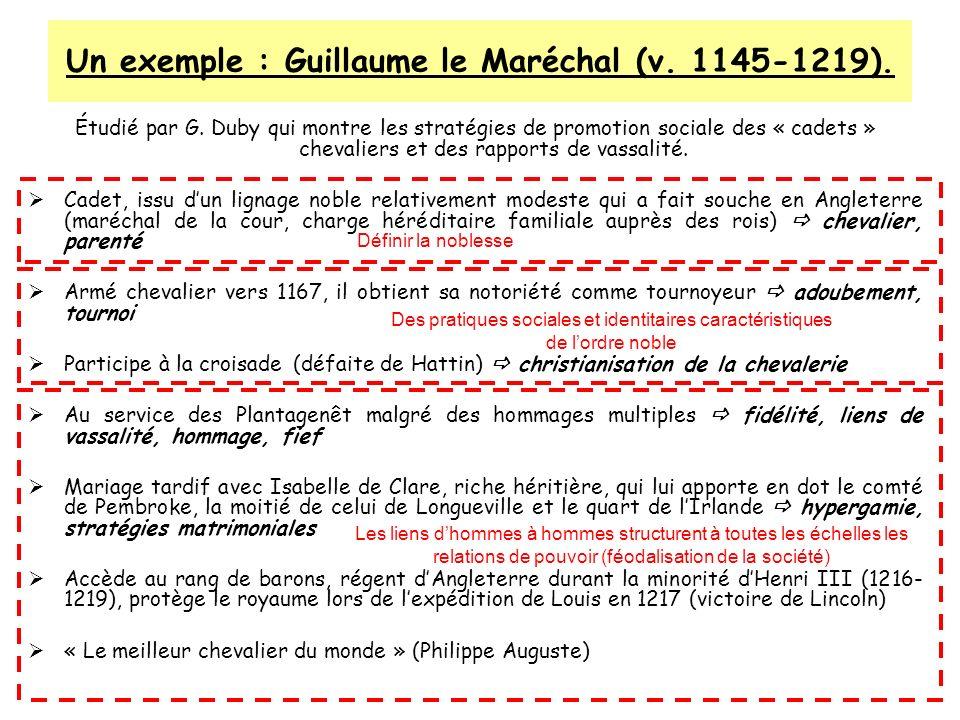 Un exemple : Guillaume le Maréchal (v. 1145-1219).