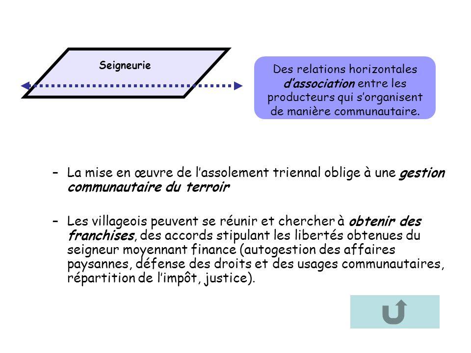 Seigneurie Des relations horizontales d'association entre les producteurs qui s'organisent de manière communautaire.