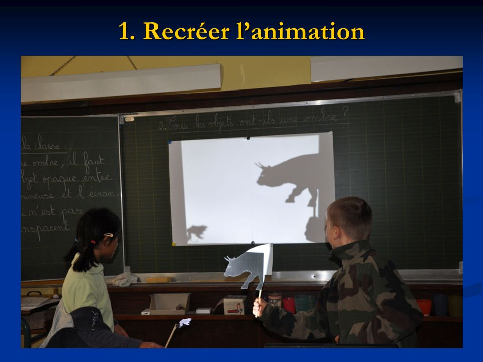 1. Recréer l'animation