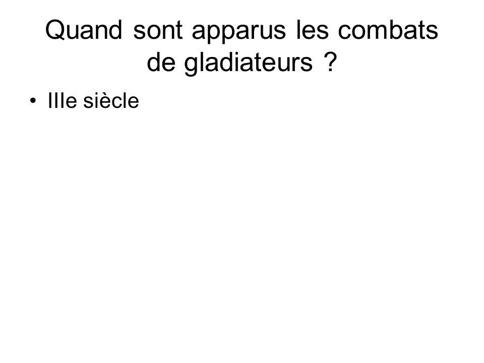 Quand sont apparus les combats de gladiateurs
