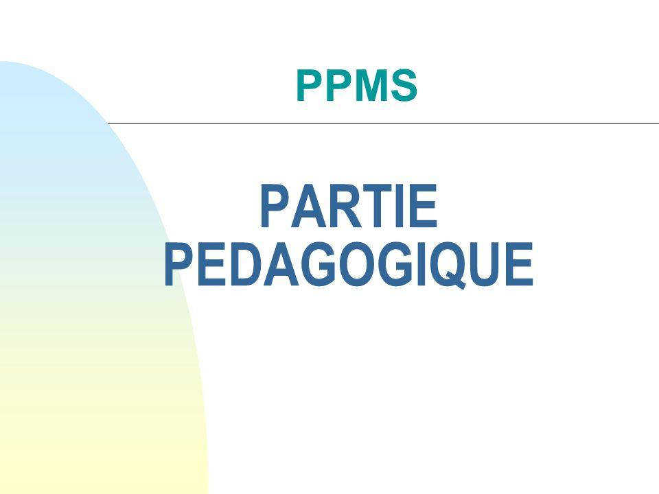 PPMS PARTIE PEDAGOGIQUE