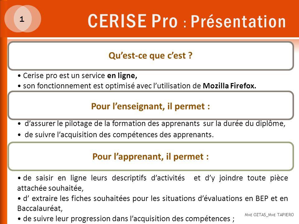 CERISE Pro : Présentation