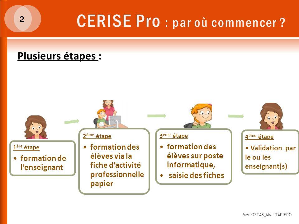 CERISE Pro : par où commencer