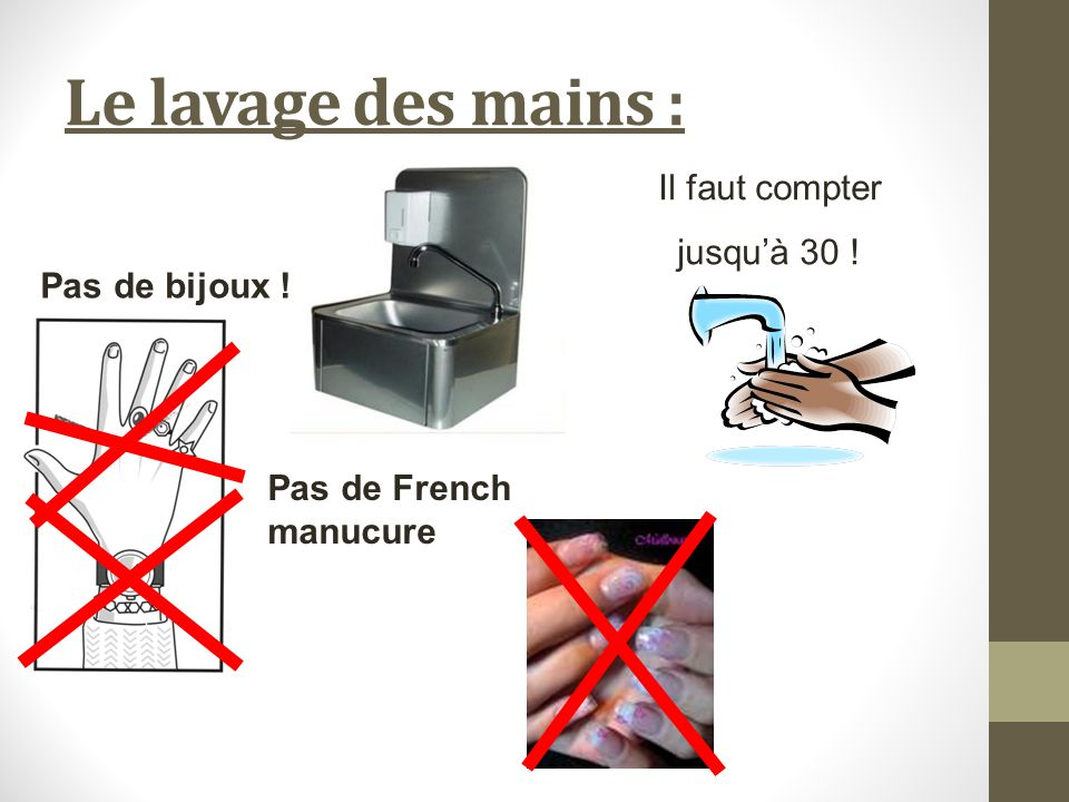 Cap agent polyvalent de restauration ppt video online - Lavage des mains en cuisine collective ...