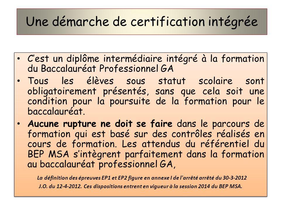 Une démarche de certification intégrée