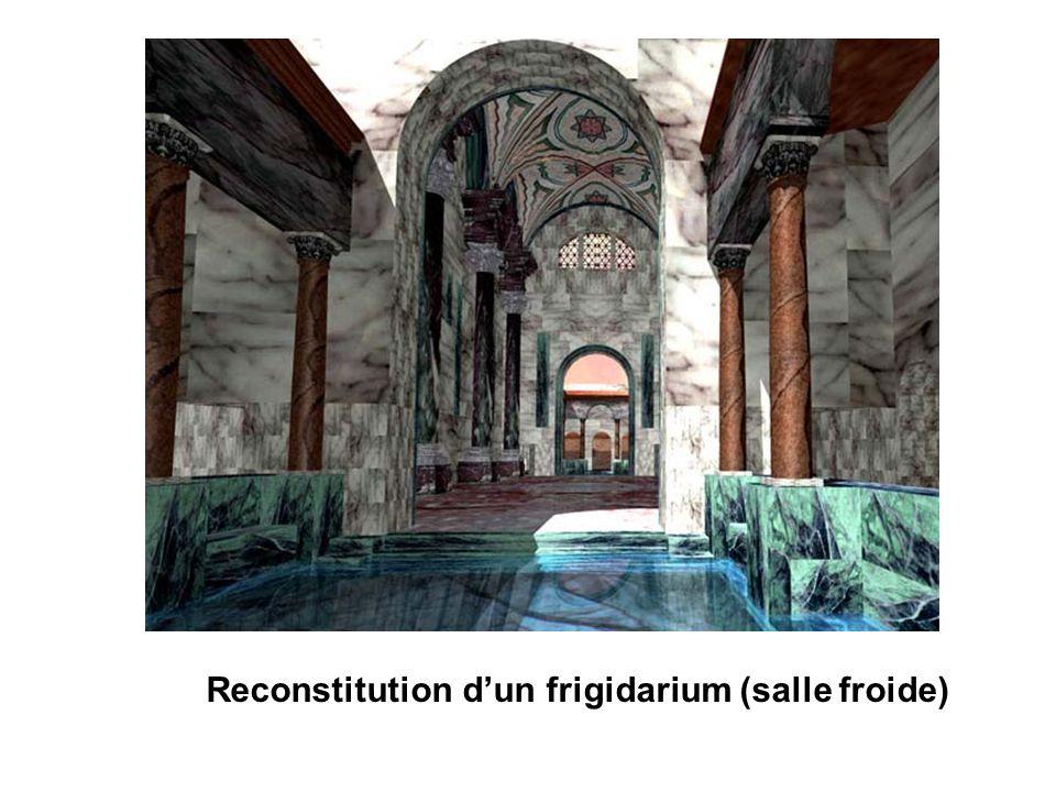 Reconstitution d'un frigidarium (salle froide)