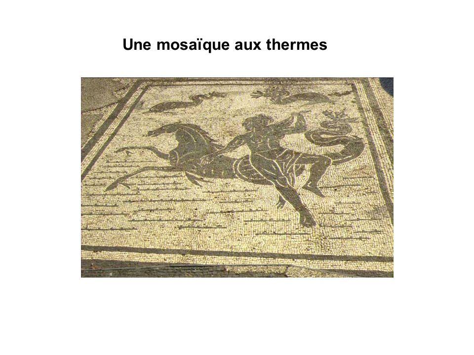 Une mosaïque aux thermes