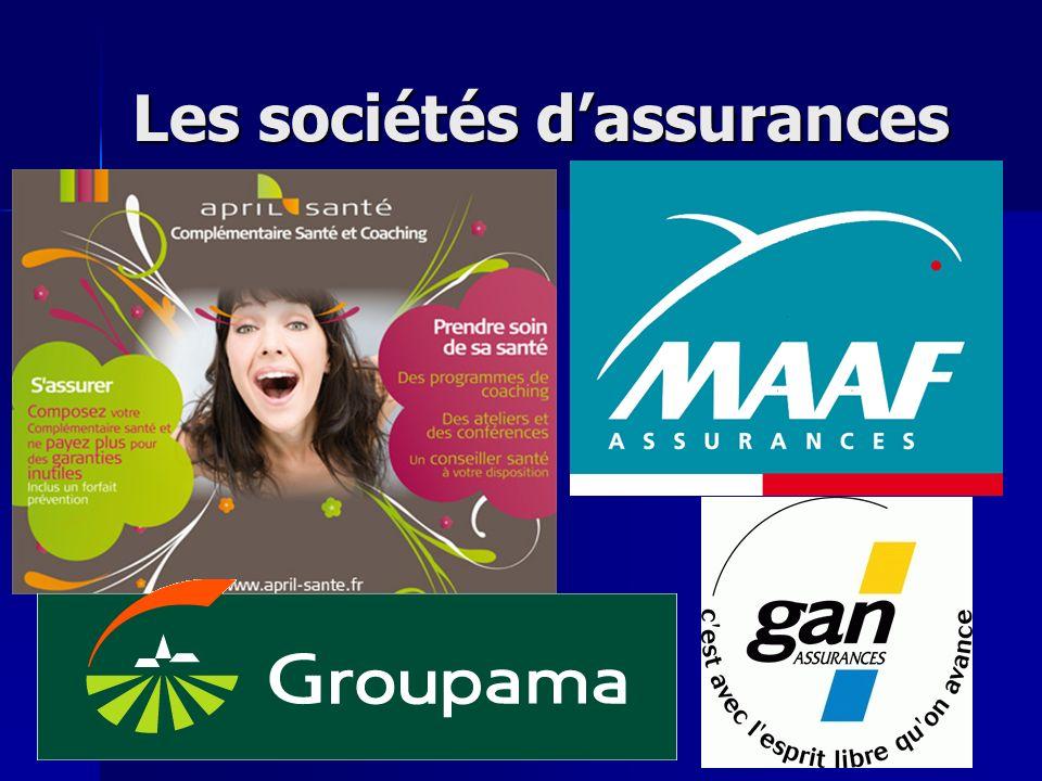 Les sociétés d'assurances