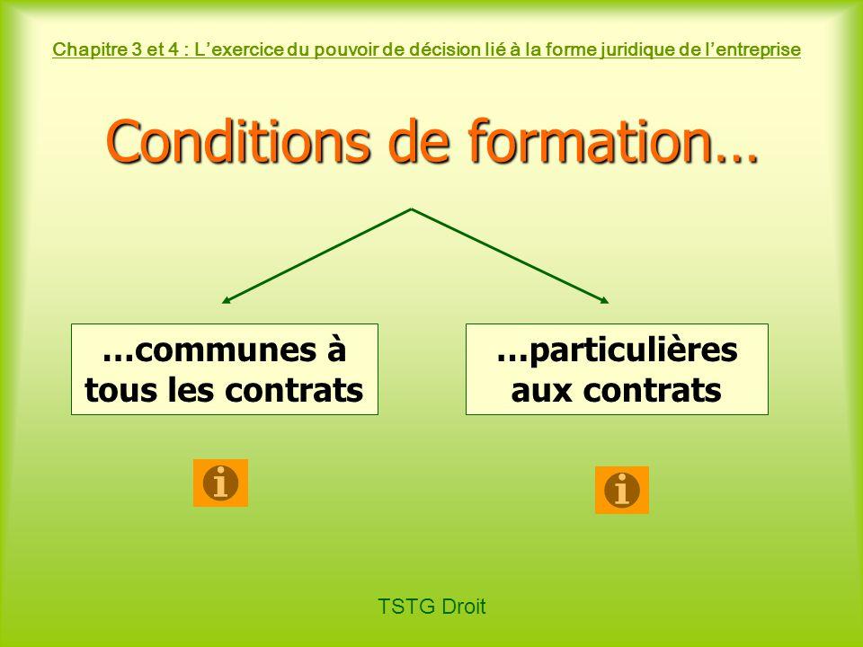 …communes à tous les contrats …particulières aux contrats