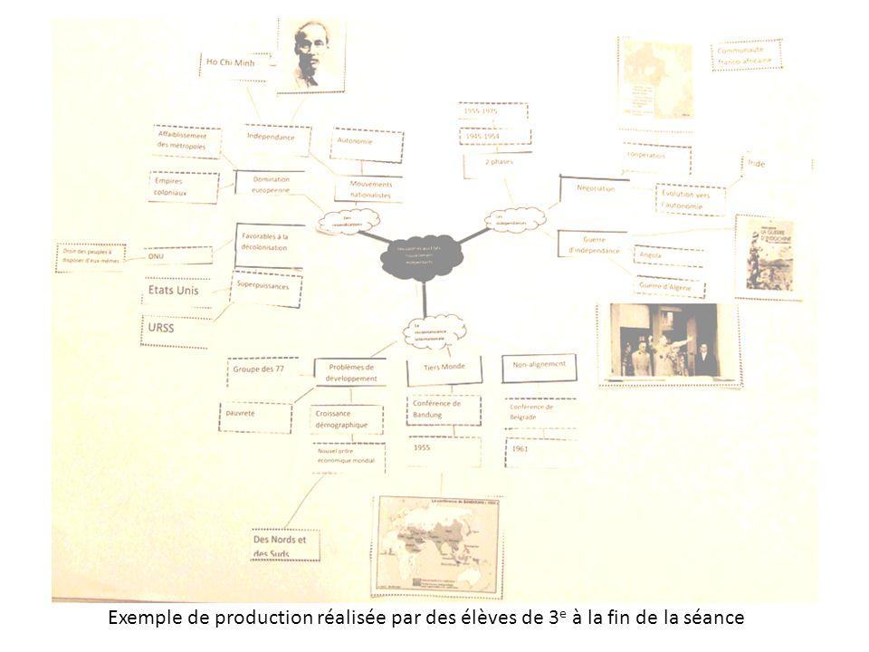 Exemple de production réalisée par des élèves de 3e à la fin de la séance