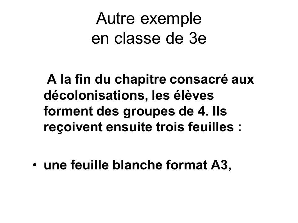 Autre exemple en classe de 3e