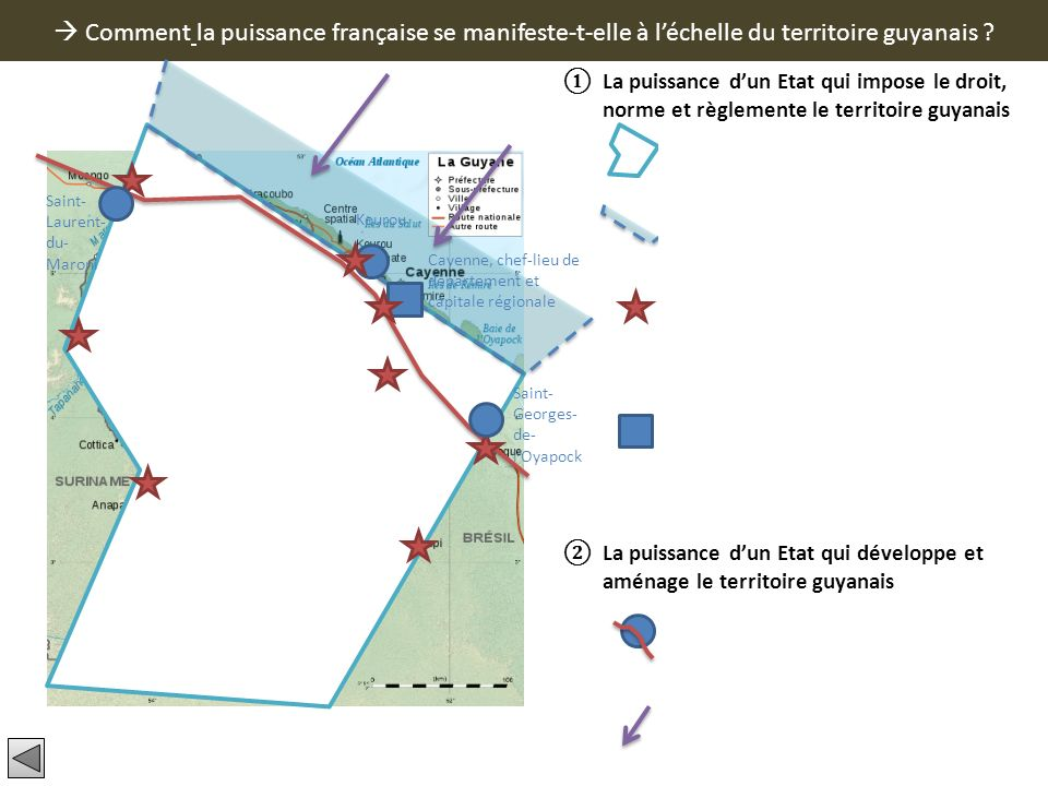  Comment la puissance française se manifeste-t-elle à l'échelle du territoire guyanais