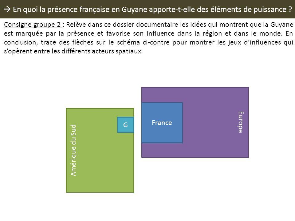  En quoi la présence française en Guyane apporte-t-elle des éléments de puissance