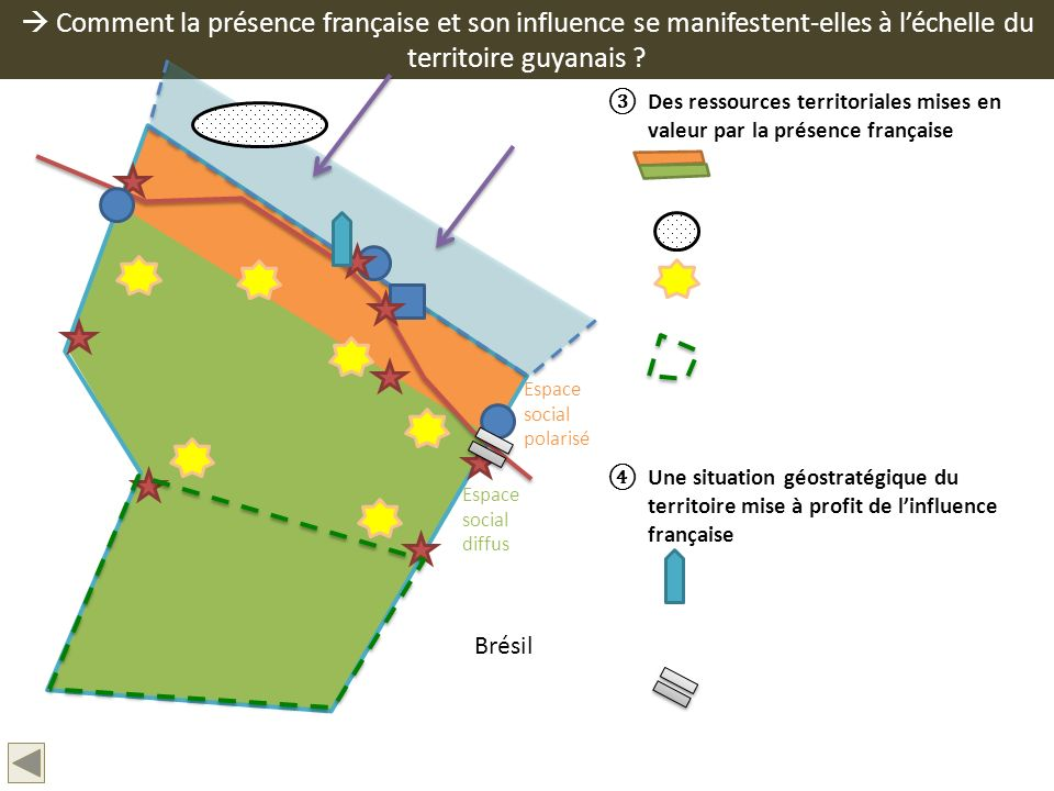  Comment la présence française et son influence se manifestent-elles à l'échelle du territoire guyanais