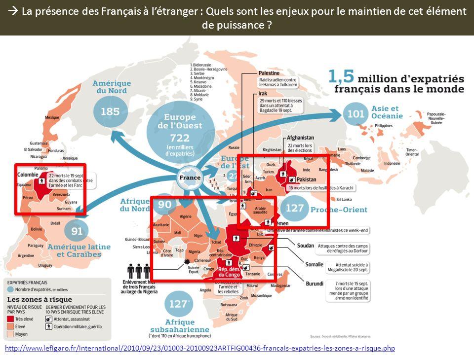  La présence des Français à l'étranger : Quels sont les enjeux pour le maintien de cet élément de puissance