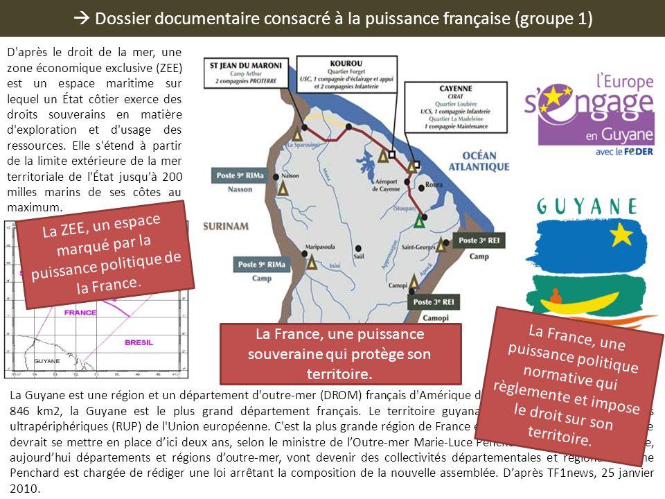  Dossier documentaire consacré à la puissance française (groupe 1)