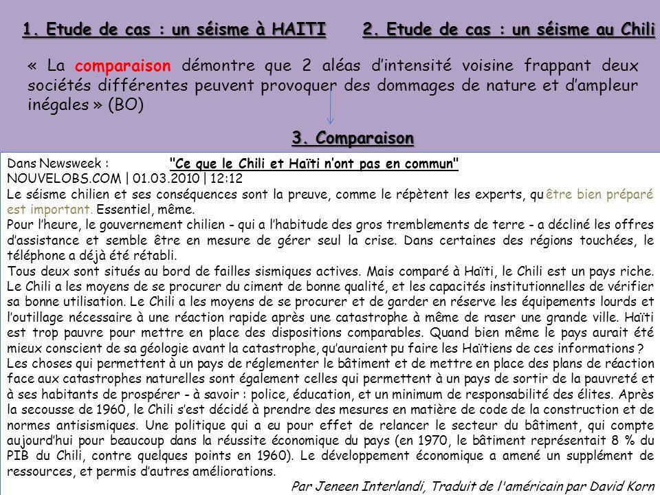 1. Etude de cas : un séisme à HAITI