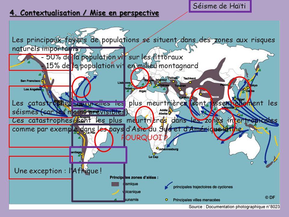 Séisme de Haïti 4. Contextualisation / Mise en perspective.