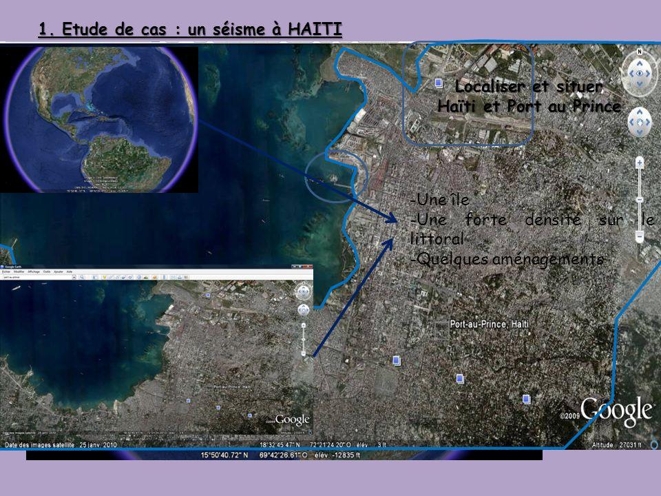Localiser et situer Haïti et Port au Prince