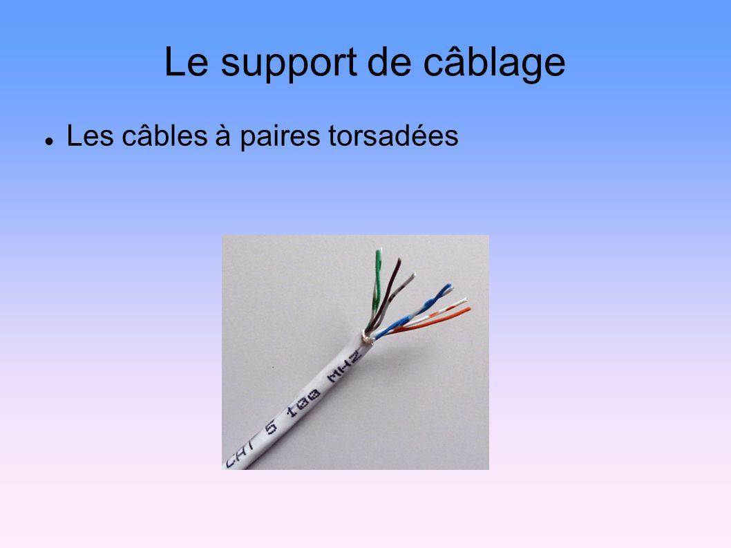 Le support de câblage Les câbles à paires torsadées 9
