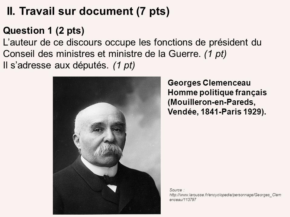 II. Travail sur document (7 pts)
