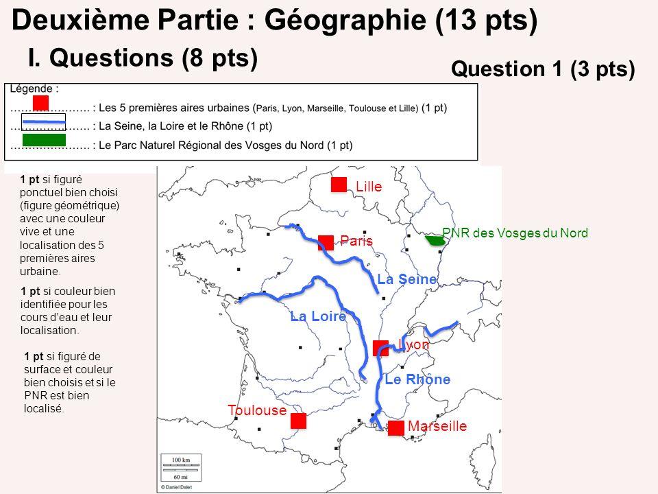 Deuxième Partie : Géographie (13 pts)
