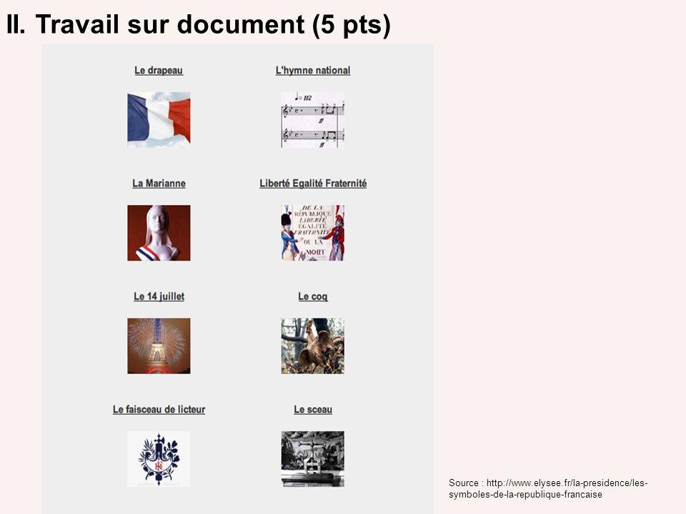 II. Travail sur document (5 pts)