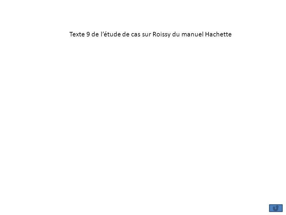 Texte 9 de l'étude de cas sur Roissy du manuel Hachette