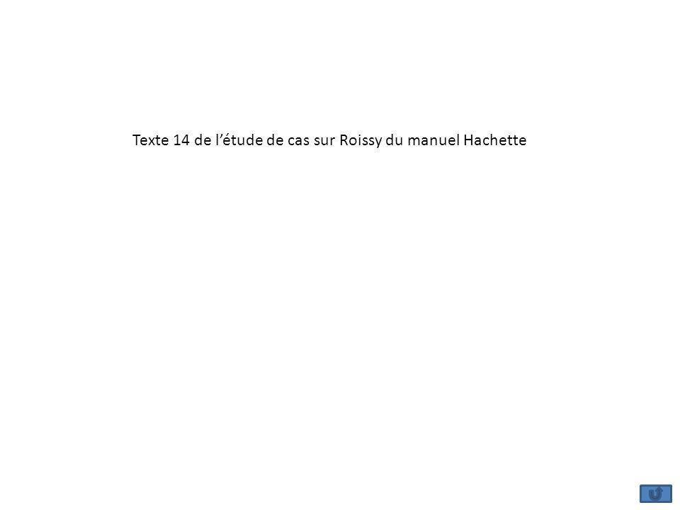 Texte 14 de l'étude de cas sur Roissy du manuel Hachette