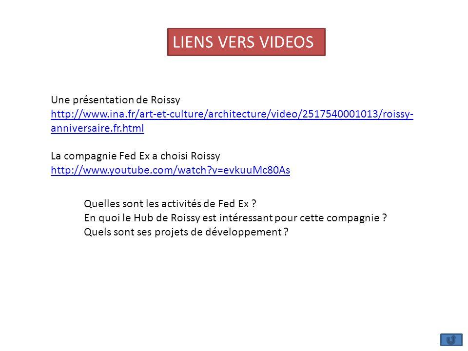 LIENS VERS VIDEOS Une présentation de Roissy